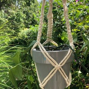 Other - Macrame String Cotton Plant Holder
